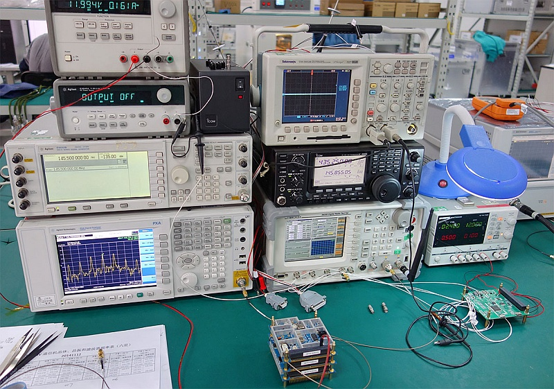Testing amateur radio assembly of XW-2
