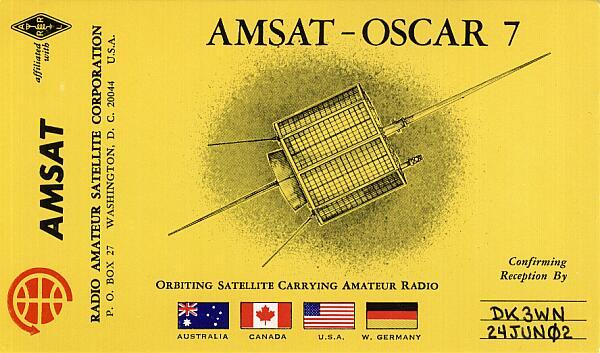 Original AO-7 QSL Karte