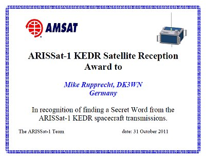 ARISSat-1 Secret Word Contest