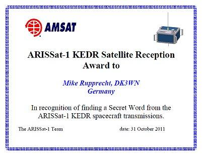 ARISSat-1 Secret Word Contest