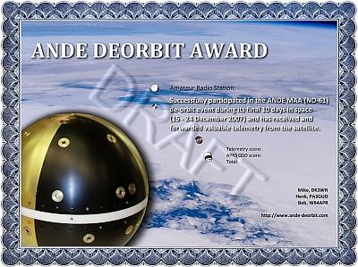 DRAFT Version of the Award
