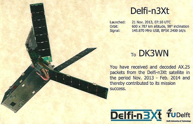 Delfi-Next QSL