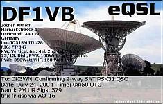 AO-16 QSL von DF1VB