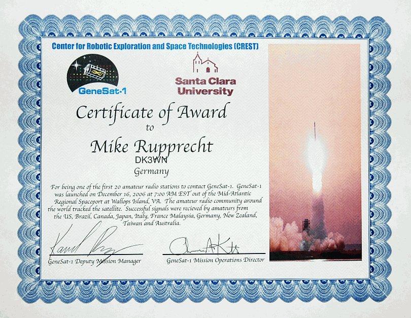 GeneSat Award