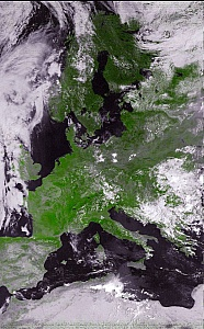 NOAA-17 False Color Vegetation