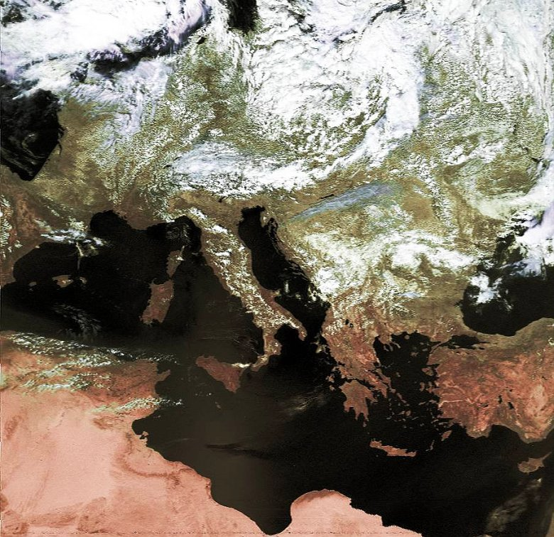 NOAA 18, 13.08.2005 Falsce Color
