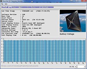 NanoSail D2 Telemetry Decoder
