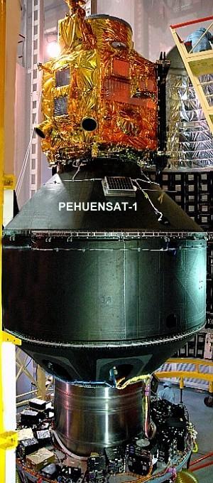PehuenSat auf der Rakete