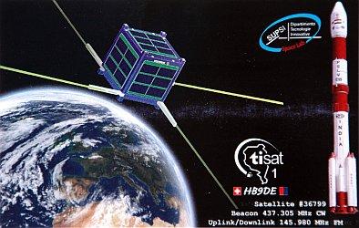 TISAT-1 QSL front