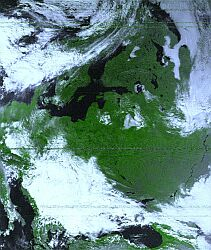 NOAA-16 False Color Vegetation 23.09.2000