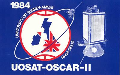 UoSat-2 original QSL
